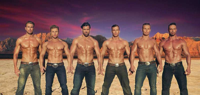 The hunks from Thunder From Down Under. Pic: Excalibur/Thunder From Down Hunder