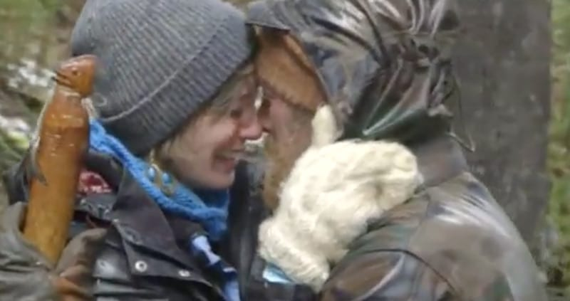Fowler and Jami hug during their emotional reunion in Patagonia