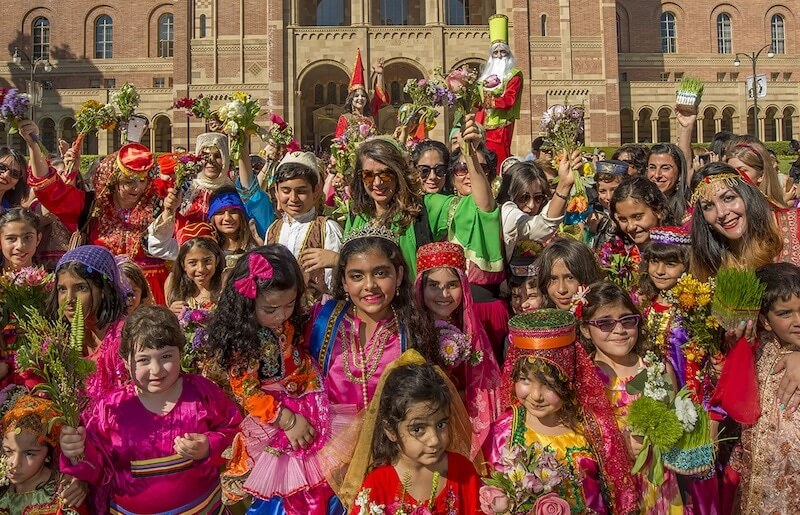 The Iranian costume parade at the Farhang Foundation's Nowruz festival