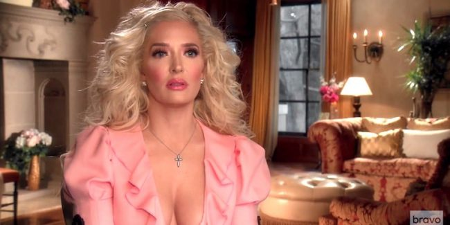 Erika Girardi, who uses the stage name Erika Jayne, on The Real Housewives of Beverly Hills