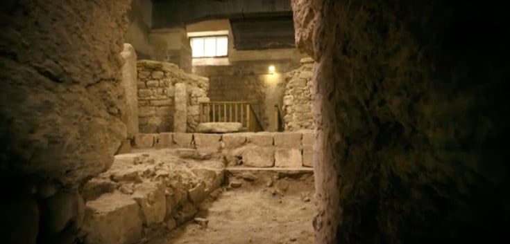 Finding Jesus - a photo of what is claimed by some to be the house of Jesus