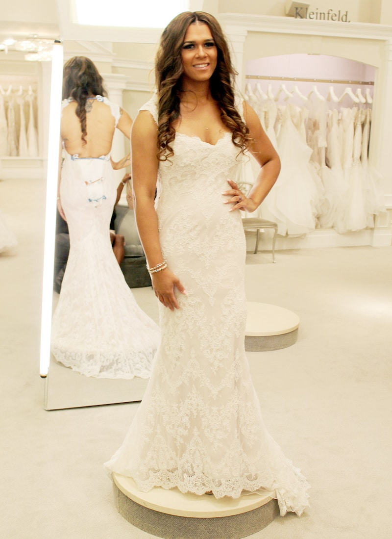 Gabrielle in a stunning picture during her visit to Kleinfeld