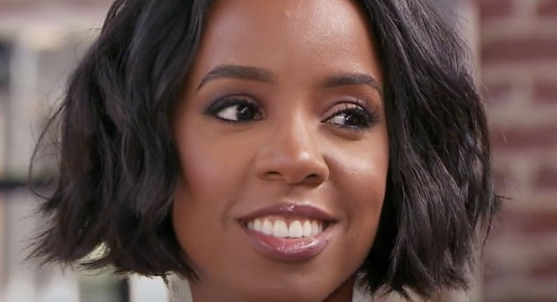 Kelly Rowland smiles as she meets the young contenders on The Rap Game