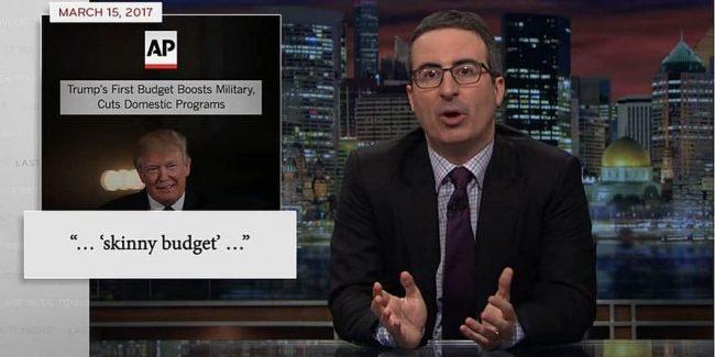 John Oliver lays into Trump's 'skinny budget' on Last Week Tonight