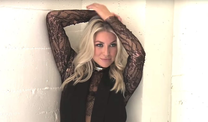 Stassi Schroeder during the photoshoot which ends up with her almost completely nude