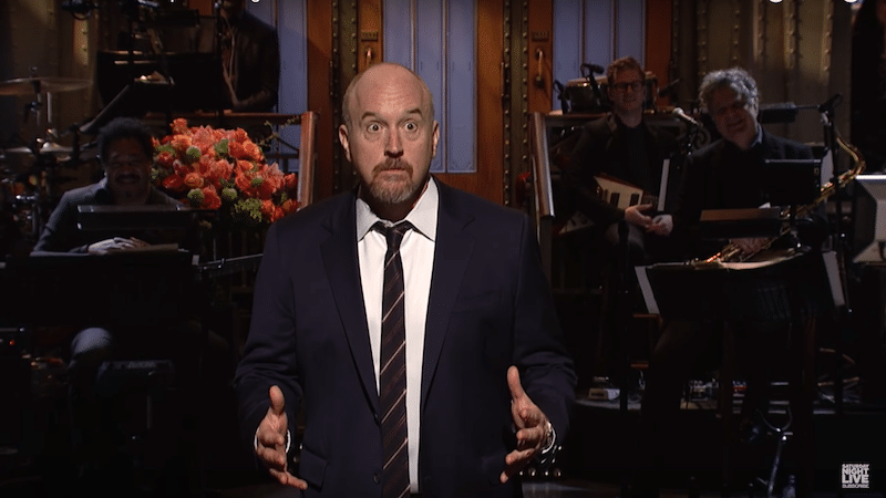 Louis C.K. jokes about having sex with a goat on SNL