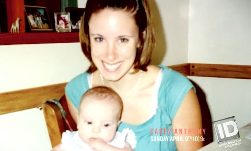 Casey with Caylee before her disappearance on ID's Casey Anthony: An American Murder Mystery