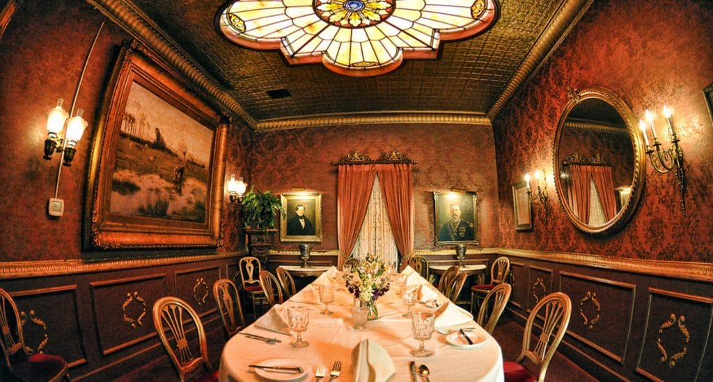Double Eagle Restaurant room as featured on Ghost Adventures