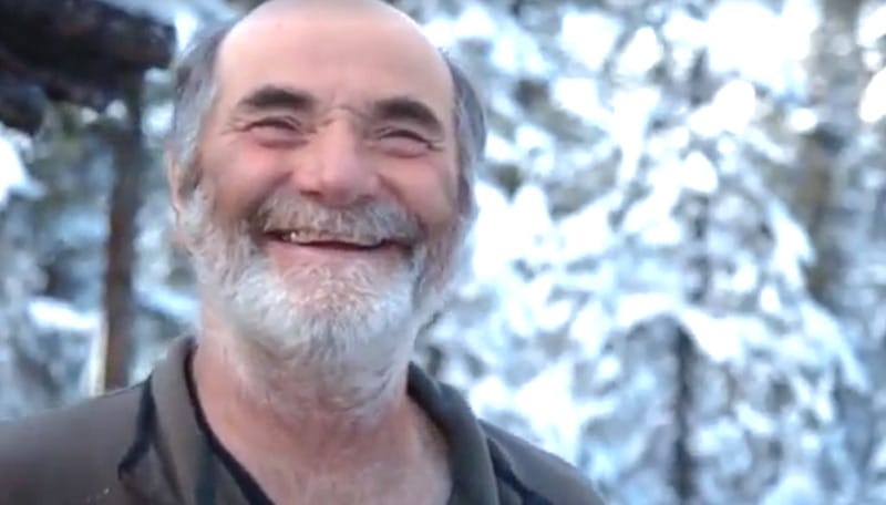 Heimo grins as he talks about the leaping marten on The Last Alaskans
