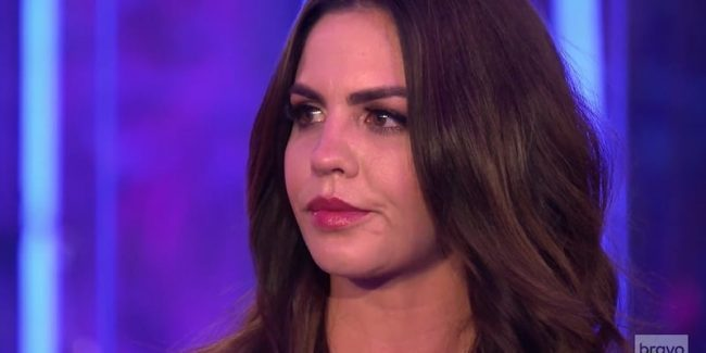 Katie Maloney cries after apologizing to Lala Kent on the Vanderpump Rules reunion