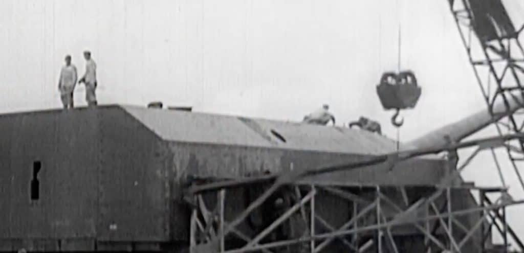 Work on building some of the massive gun emplacements