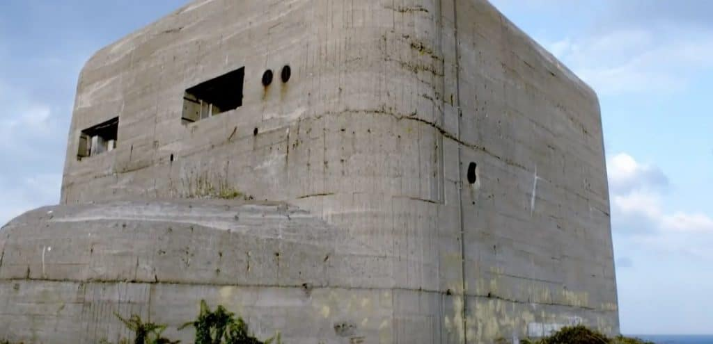 Many of the fortifications were linked by a network of rail tunnels and have reinforced concrete up to 7 feet thick