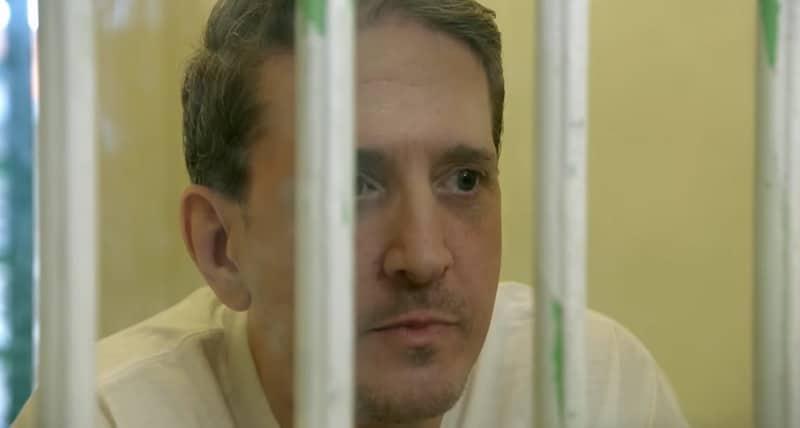 Richard Glossip behind bars in footage from Killing Richard Glossip