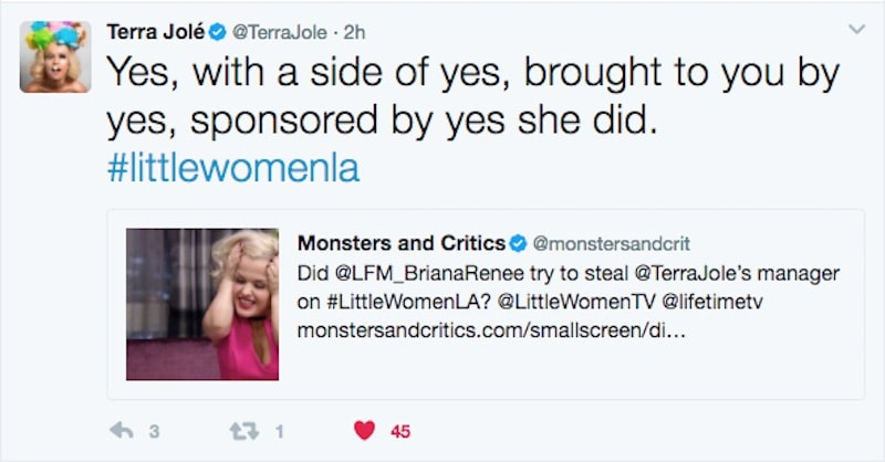 Tweet by Terra Jole