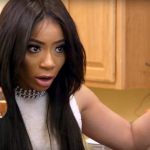 Tommie holds a glass of her wine on this week's episode of Love & Hip Hop Atlanta