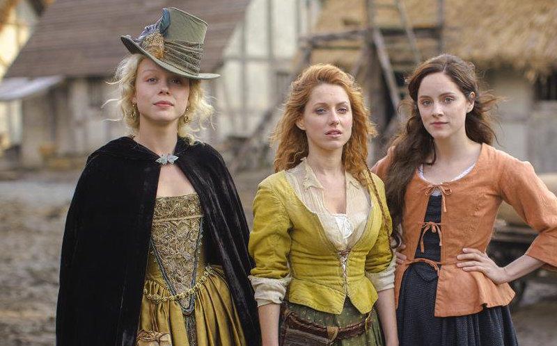 Jocelyn (Naomi Battrick), Verity (Niamh Walsh), and Alice (Sophie Rundle) in Jamestown