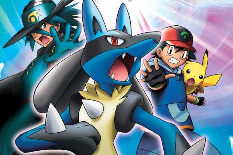 Artwork from Pokemon movie Lucario and the Mystery of Mew
