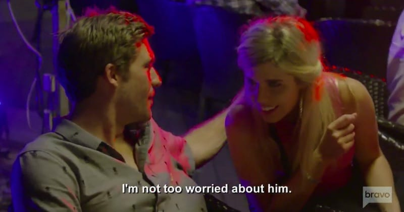 Adam talking to Christine on Below Deck Mediterranean