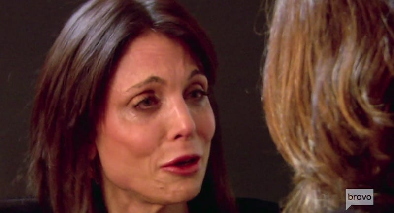 Bethenny Frankel and Ramona Singer break down on The Real Housewives of New York City