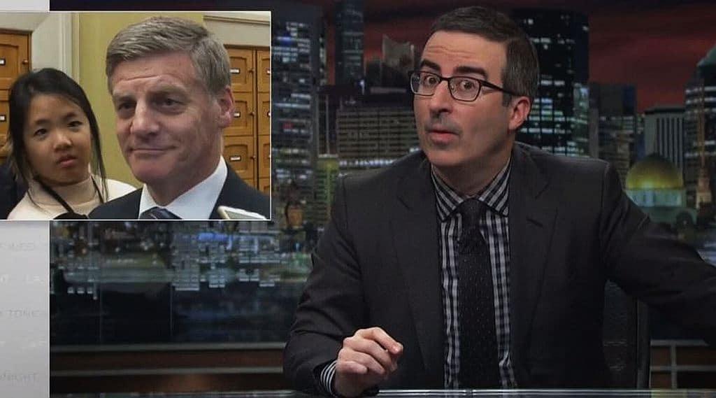 Kiwi PM Bill English and Davita receive John Oliver's full wrath on Last Week Tonight