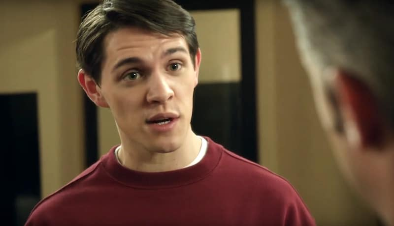 Close-up of Casey Cott's face on Law & Order: Special Victims Unit