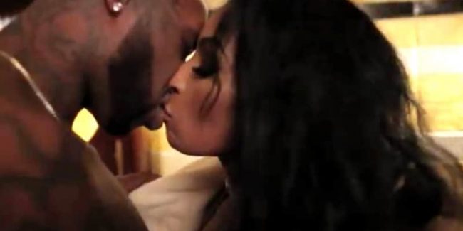 Ceaser kisses Karlie Redd at the spa in the Black Ink Crew season finale