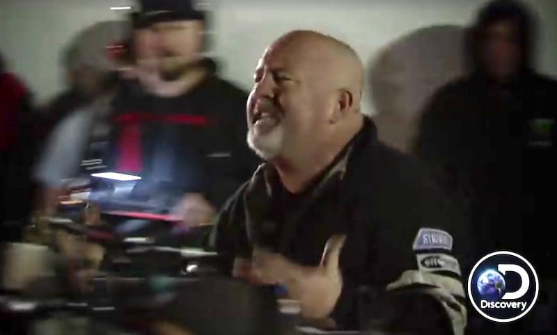 Chuck screaming at Big Chief on Street Outlaws