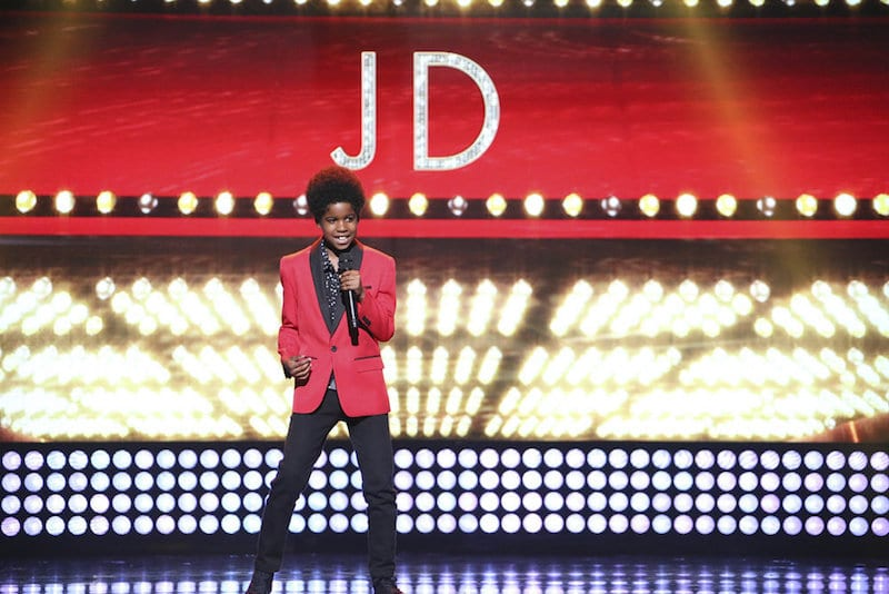 JD McCrary during his performance on NBC's Little Big Shots