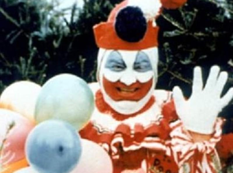 Serial Killer John Wayne Gacy dressed up as a clown