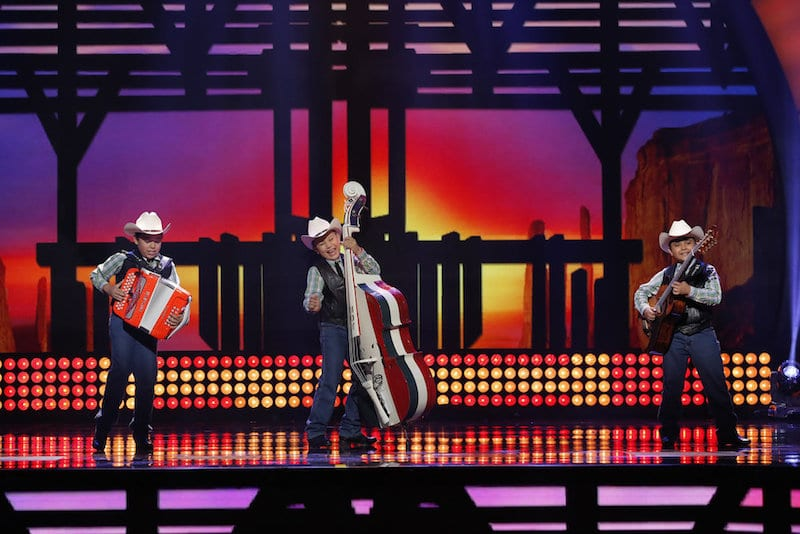 Los Banales Jr performing on Little Big Shots