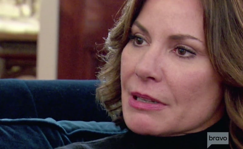 Close-up of Luann's face as she speaks to Dorinda on The Real Housewives of New York City