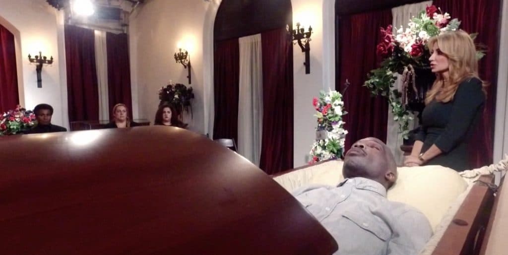 Marriage Boot Camp: Reality Stars Family Edition Chad in coffin