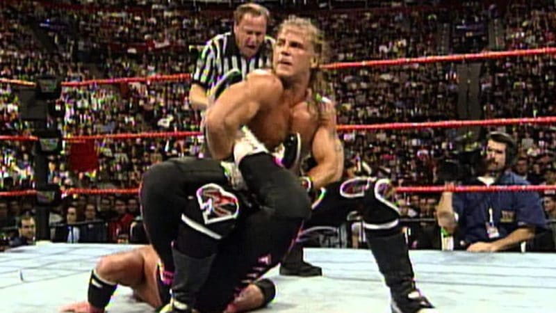 Still of a moment from the Montreal Screwjob