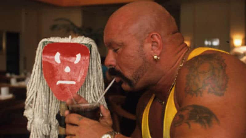 Perry Saturn and his mop friend