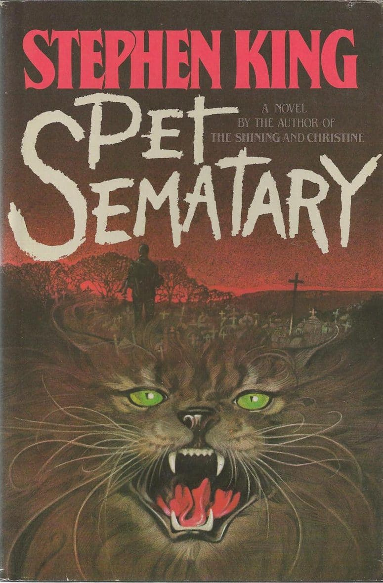 First edition cover of Stephen King's book Pet Sematary