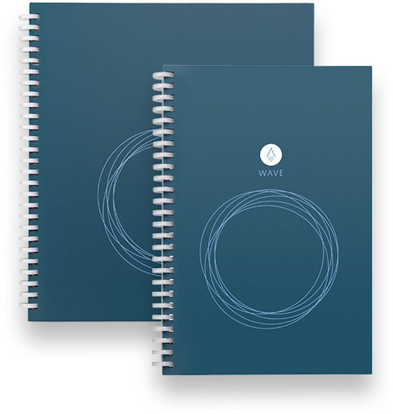 Two different sizes of the Rocketbook Wave notebook which are available