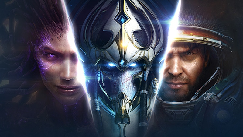 A promotional picture for the Starcraft II game, an eSports favorite