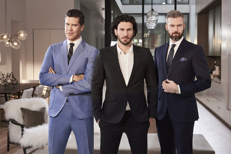 Promotion picture of Million Dollar Listing's Fredrik Eklund, Steve Gold and Ryan Serhant