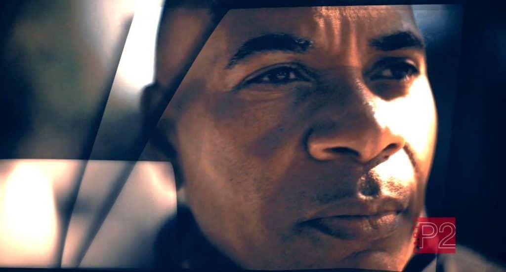 Close-up of Scene of the Crime host Tony Harris's face