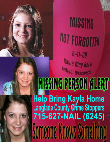 If you have any information about Kayla you can contact this number