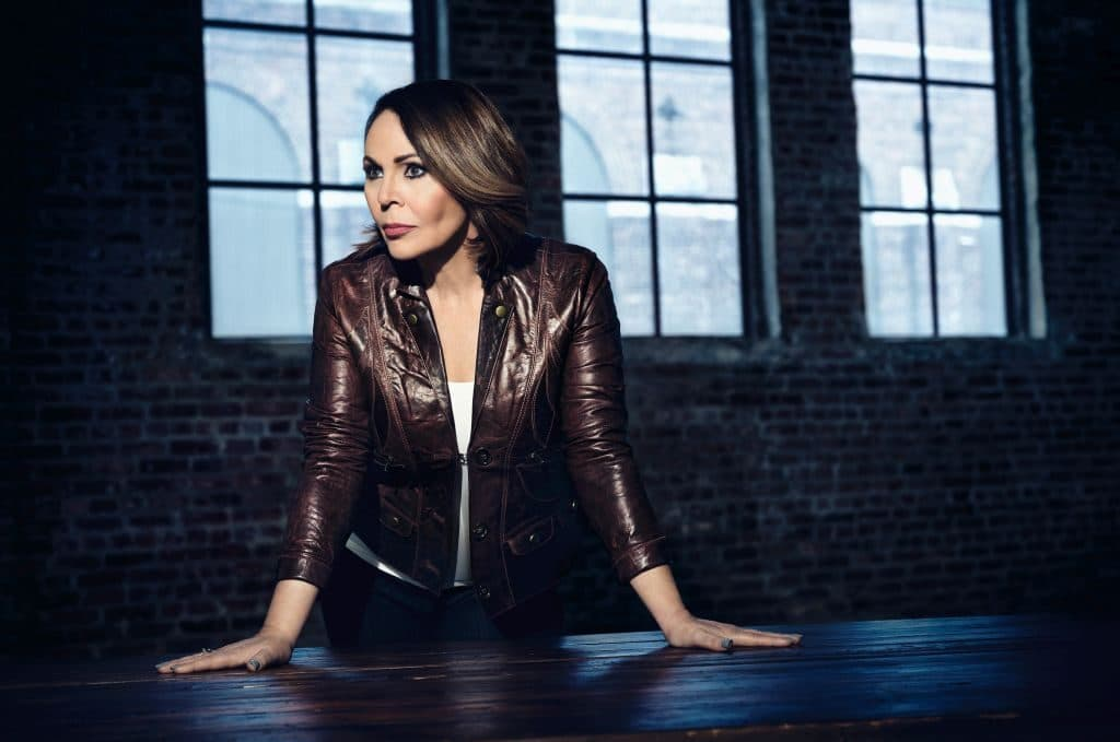 María Elena Salinas in a promotional photo for The Real Story on Investigation Discovery