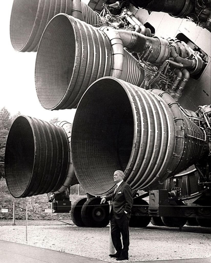 on Braun with the F-1 engines of the Saturn V first stage
