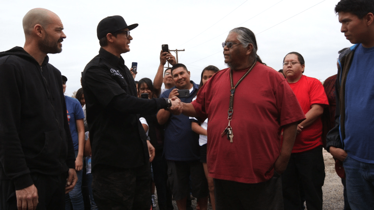 Zak meets representatives of the Navajo Nation