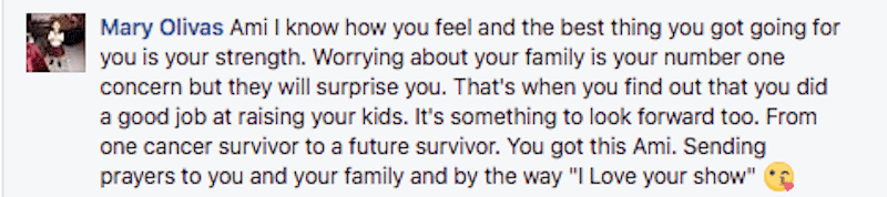 Fan comment from the Alaskan Bush People Facebook page