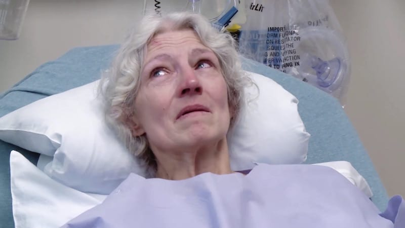 Ami Brown of Alaskan Bush People in a hospital bed