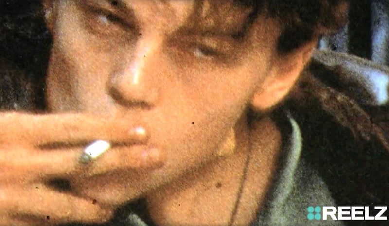 Leonardo DiCaprio smoking a cigarette in The Basketball Diaries from this week's CopyCat Killers on REELZChannel
