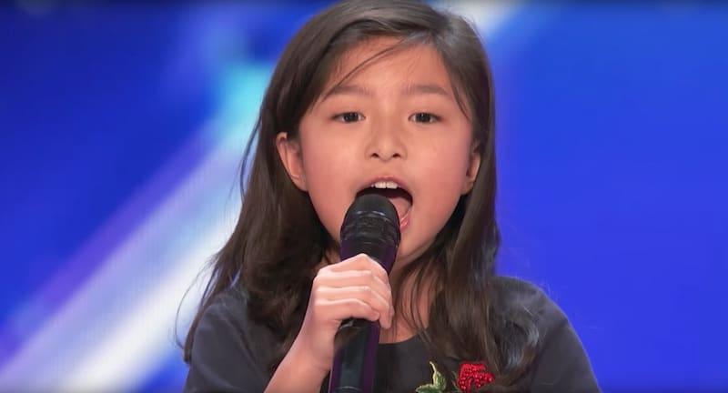 Celine Tam singing on America's Got Talent