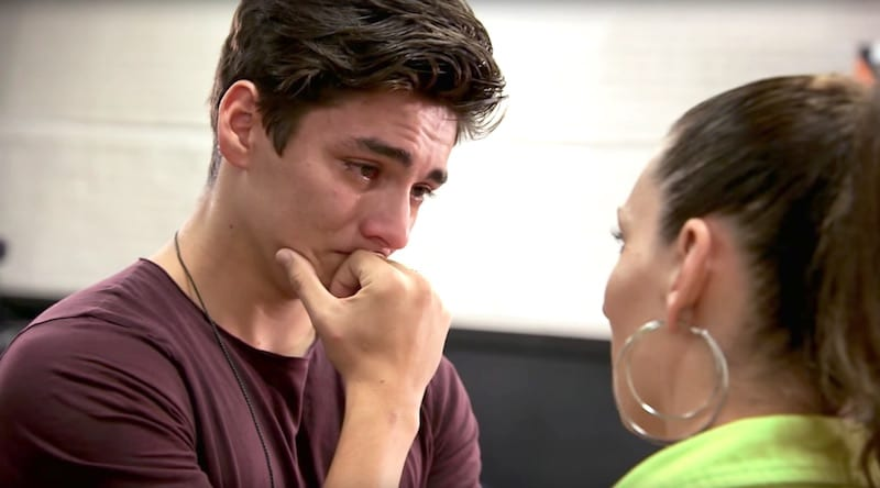 Chance Perez in tears on Boy Band