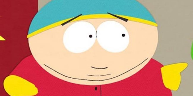 A close-up of Eric Cartman in South Park