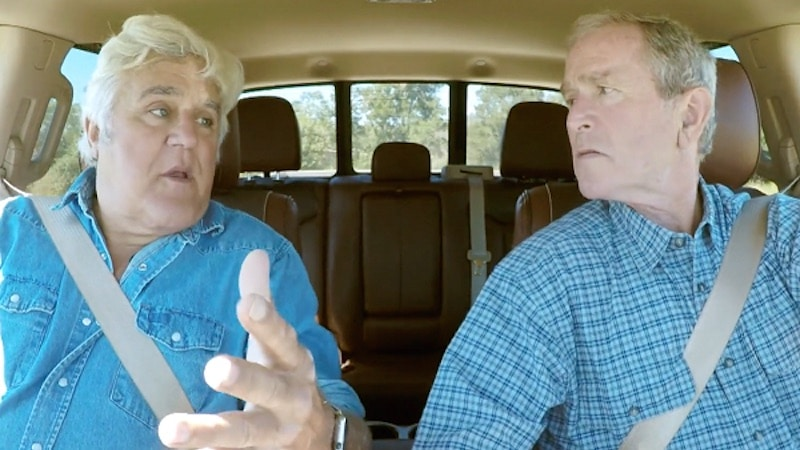 Jay Leno and George W. Bush drive in his Ford F-150 on Jay Leno's Garage Season 3